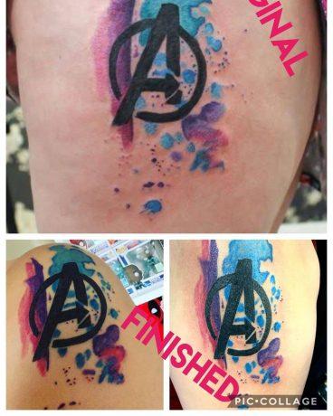 Bear skin tattoo
