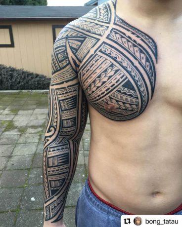 Polynesian Style tattoo in arm