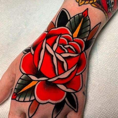 Traditional Rose in hand