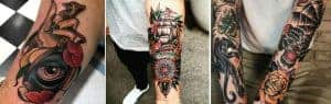traditional tattoo by different artist