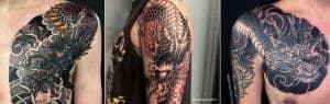 Dragon tattoo by artist brett hayes