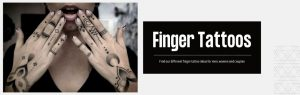 Finger tattoo banner