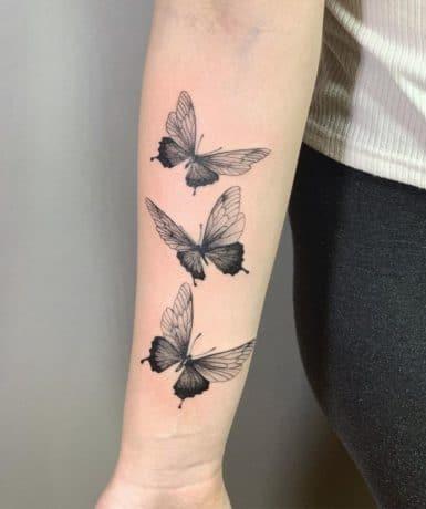 Butterflies tattoo on arm